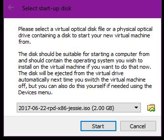 Raspbian x86 on VirtualBox on a Windows PC - Andrew Oakley